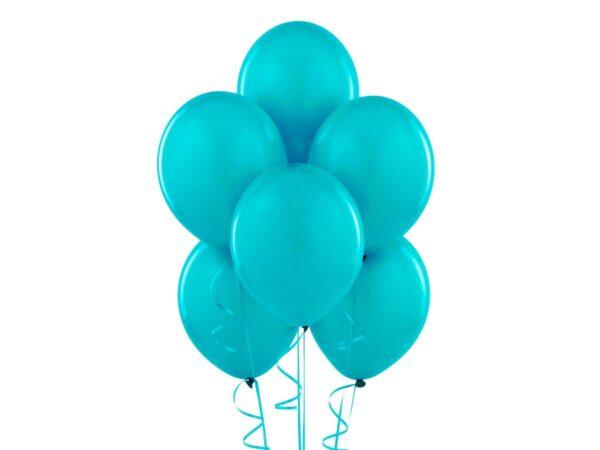 Piękne turkusowe balony z helem