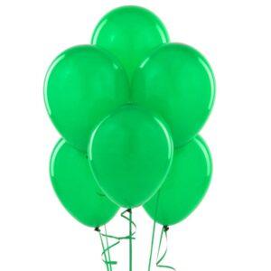 Balony lateksowe w kolorze zielonym