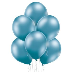 """Achr05. Chromowane balony lateksowe 12"""" calowe – kolor niebieski"""