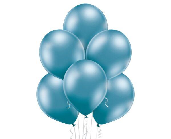 Balony chromowane w niebieskiej odsłonie