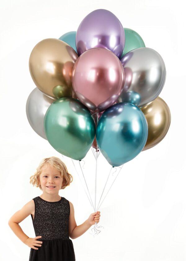 Balony chromowane z helem Warszawa