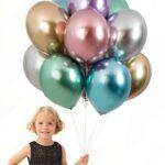 Balony lateksowe chromowane