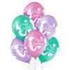 Balony z helem i małą syrenką