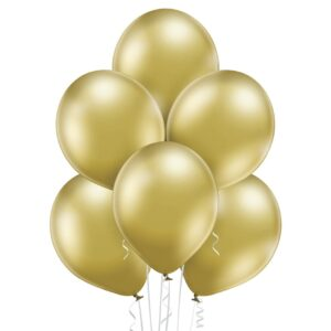 """Achr01. Chromowane balony lateksowe 12"""" calowe – kolor złoty"""