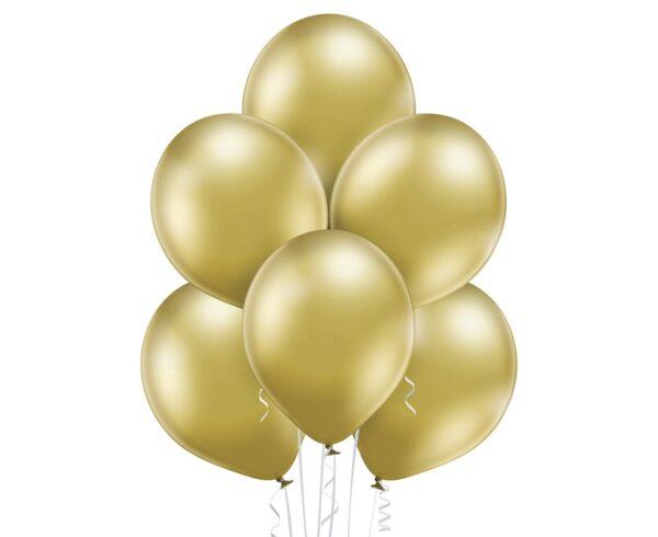 Balony złote - chromowane