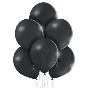 Ciemno szary balon z helem