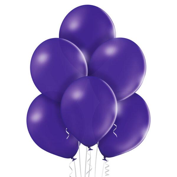 Baloniki w kolorze fioletowym z helem