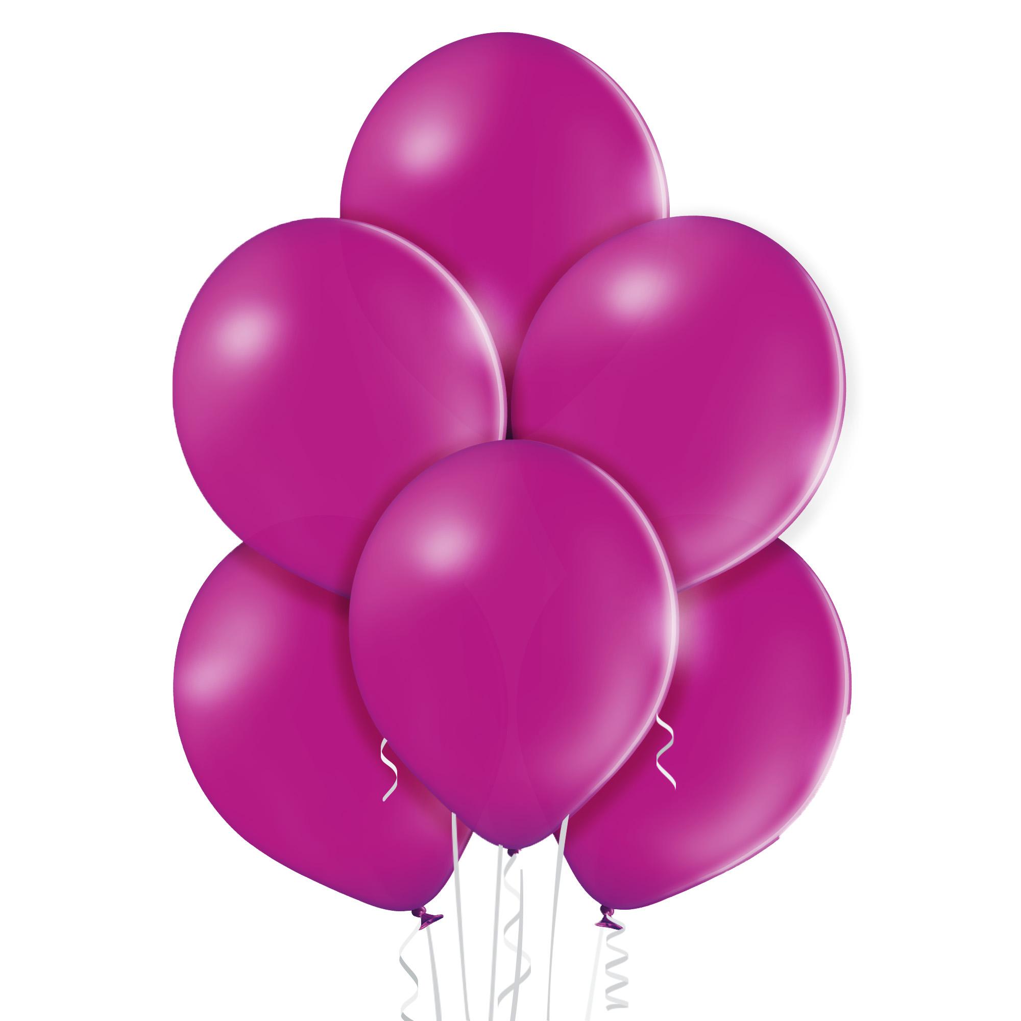 Kolor winogronowy - baloniki z helem