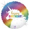 Mega kolorowy balon foliowy z jednorożcem