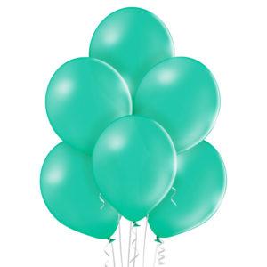 Baloniki w kolorze miętowym wypełnione helem