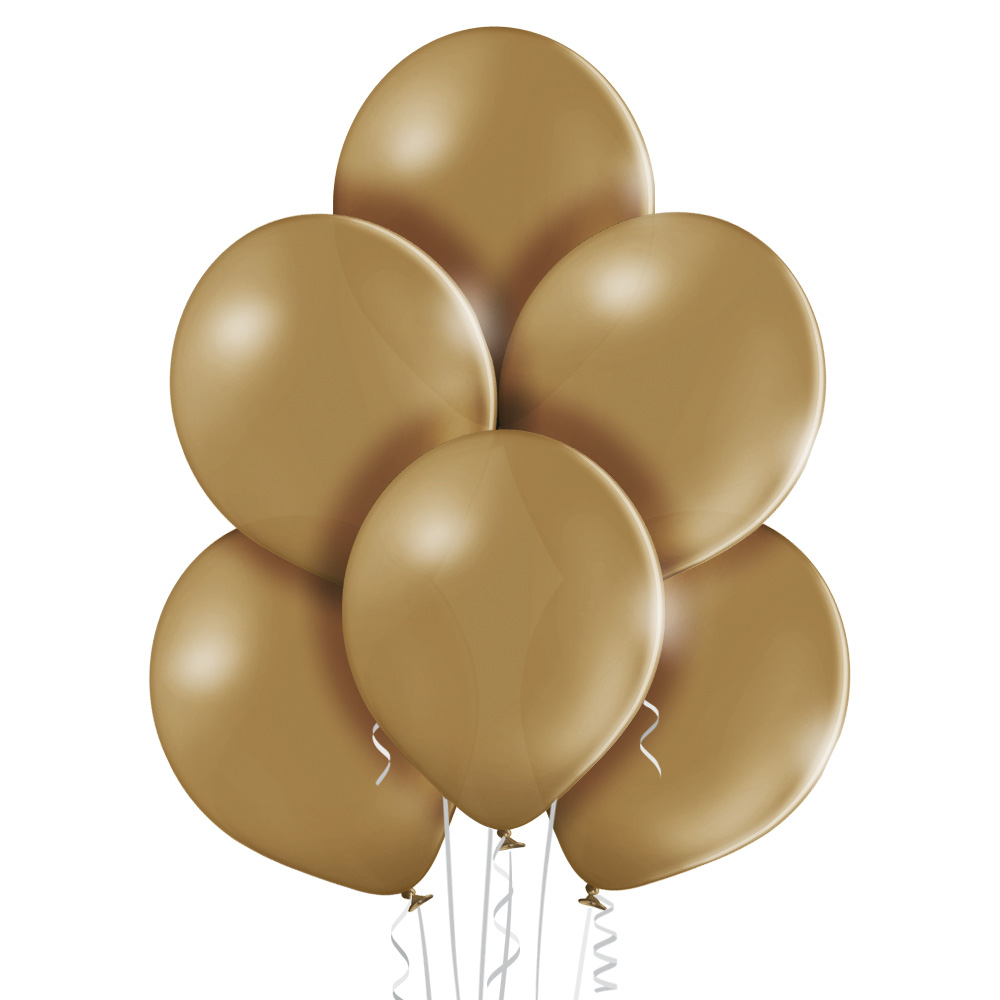Balony lateksowe bez nadruku w kolorze migdałowym - jasno brązowym