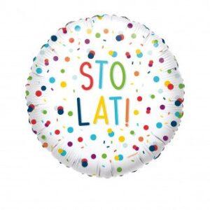 L0054. Balon foliowy z helem na urodziny 18″ cali (43 cm) – Sto Lat