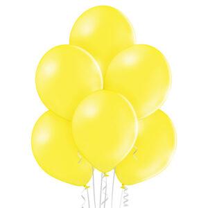 """008. Pastelowe balony lateksowe 12"""" calowe – kolor żółty"""