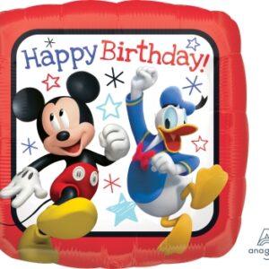 L0078. Balon foliowy z helem na urodziny 18″ cali (43 cm) – Mikki i Donald