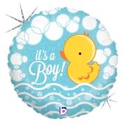 Ma30. Balon 18 cali (43 cm) na narodziny chłopca – kaczuszka