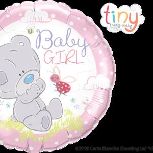 Ma08. Balon 18 cali (43 cm) na narodziny dziewczynki – misiek