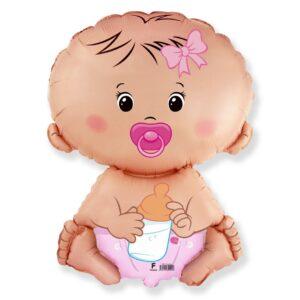 Ma26. Duży balon w kształcie małej dziewczynki 67/46 cm