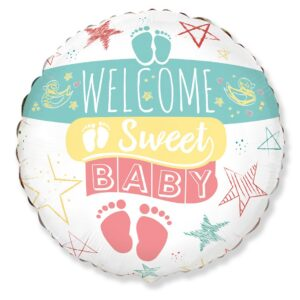 Ma42. Balon 18 cali (43 cm) na narodziny chłopca – Welcome Sweet Baby