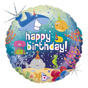 L0083. Balon foliowy z helem na urodziny 18″ cali (43 cm) – zwierzęta morskie