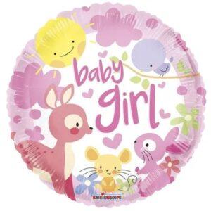 Ma03. Balon 18 cali (43 cm) na narodziny dziewczynki – zwierzątka