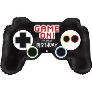 La17. Balon foliowy na urodziny w kształcie pada do gier dla gracza 90 cm