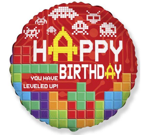 Okrągły balon urodzinowy dla chłłopca lub męża