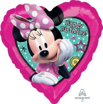 Balon z helem w kształcie serca urodzinowy