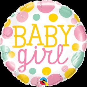 Ma05. Balon 18 cali (43 cm) na narodziny dziewczynki – w pastelowych barwach