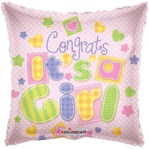 Ma06. Balon 18 cali (43 cm) na narodziny dziewczynki – gratulacja