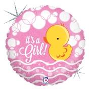 Ma10. Balon 18 cali (43 cm) na narodziny dziewczynki – kaczuszka
