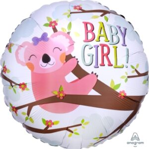 Ma15. Balon 18 cali (43 cm) na narodziny dziewczynki – różowy koala