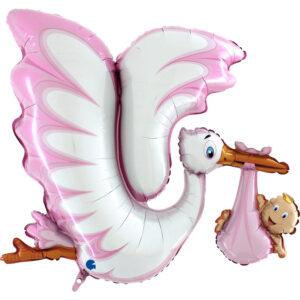 Ma19. Duży balon w kształcie bociana z dzieckiem 135 cm