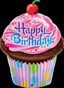 La08. Duży balon foliowy na urodziny w kształcie dużej babki z napisem Happy BirthDay 88 cm