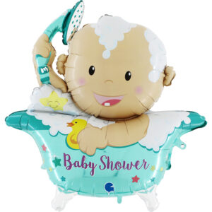 Ma53. Balon 42 cale  (około 107 cm) na narodziny chłopca – Bobas w wannie