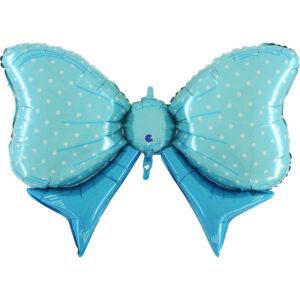Ma51. Balon 43 cale na narodziny chłopca – kokarda niebieska