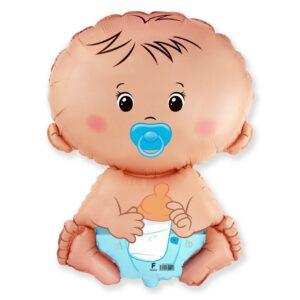 Ma58. Balon 67/46 cm na narodziny chłopca – chłopczyk – bobas