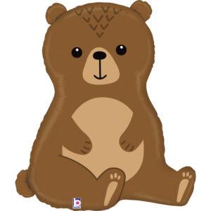 L08. Balon z helem w kształcie niedźwiedzia około 86 cm