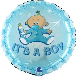 Ma46. Balon 18 cali (43 cm) na narodziny chłopca – It's a Boy chłopczyk