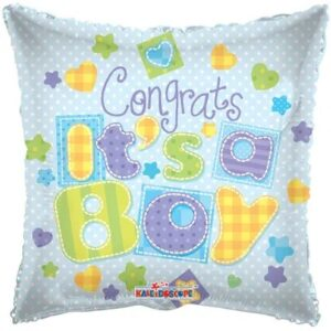 Ma47. Balon 18 cali (43 cm) na narodziny chłopca – Gratulacje z okazji narodzin chłopca