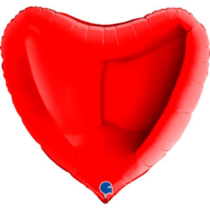 8- Balony z helem w kształcie serca