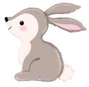 L07. Balon z helem w kształcie królika / zająca około 90 cm