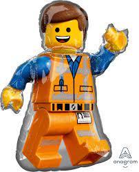 M05. Balon foliowy z helem – postać ludzika Lego około 81 cm