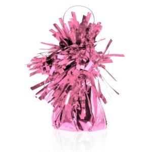 różowy ciężarek foliowy do balonów z helem