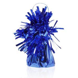Niebieski ciężarek do balonów helowych