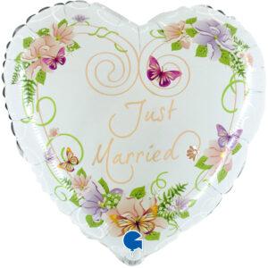 Piękne białe balony z helem na Wesele