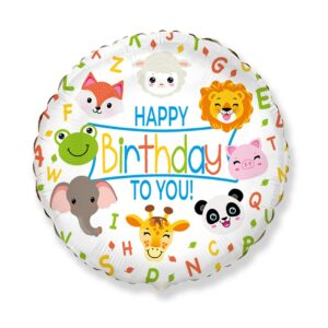 Balony ze zwierzątkami takimi jak lis, owieczka, żaba, panda, słoń, lew czy świnka.