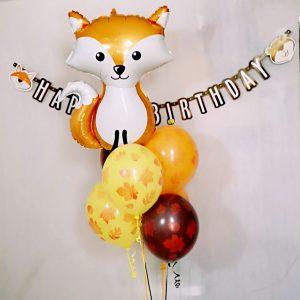 balon lis lisek rudy zwierzak zwierzatka na hel balony sklep