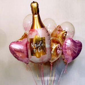 balon w ksztalcie szampana balony na wieczor panienski z helem