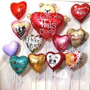 balony z helem na walentynki baloniki walentynkowe w ksztalcie serca warszawa